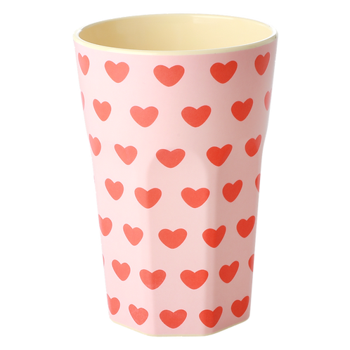 rice - Large Melamin Cup - Hearts Print