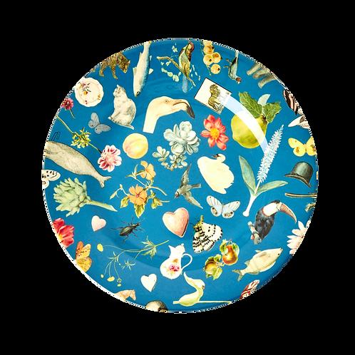 rice - Runder Melamin Teller - Art Print