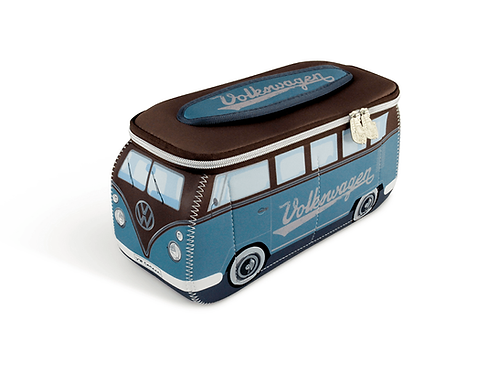 VW T1 Bus 3D Neopren Universaltasche – petrol / braun