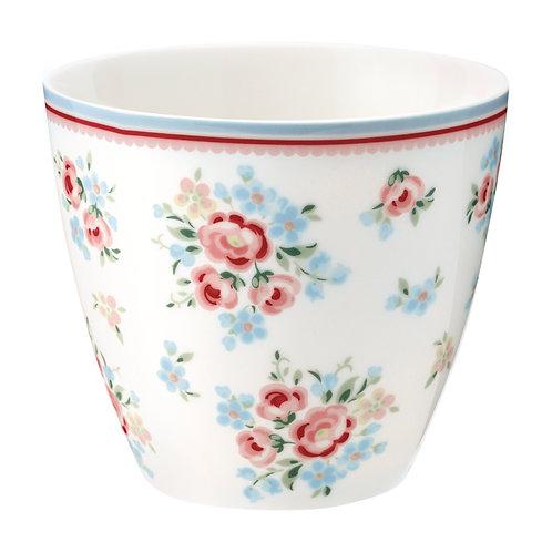 GreenGate - Latte Cup - Nicoline white - Becher - Porzellan