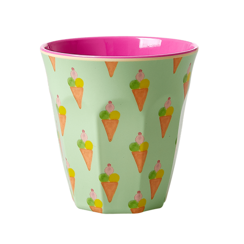 rice - Medium Melamin Becher - Ice Cream Print