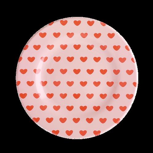 rice - Melamin Teller - Sweet Hearts Print