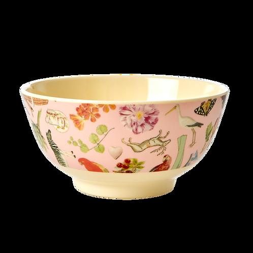rice - runde Medium Melamin Bowl - Art Print
