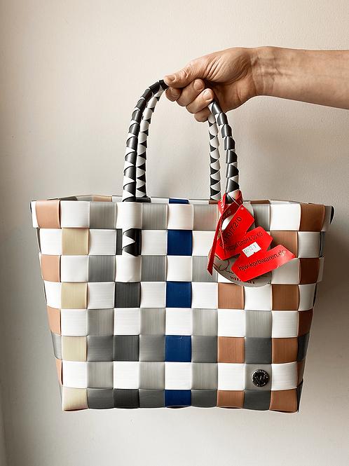 Witzgall - Ice-Bag - Tasche - Shopper - Farbe: Braun Grau Weiß