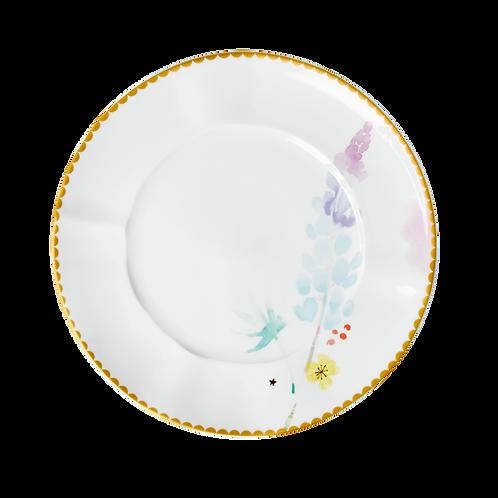 rice - Porzelan Lunch-Teller - Blue Lupin Print