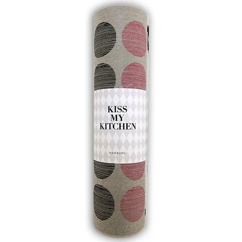Kiss my Kitchen - Schwammtuch-Rolle, Dots grey pink