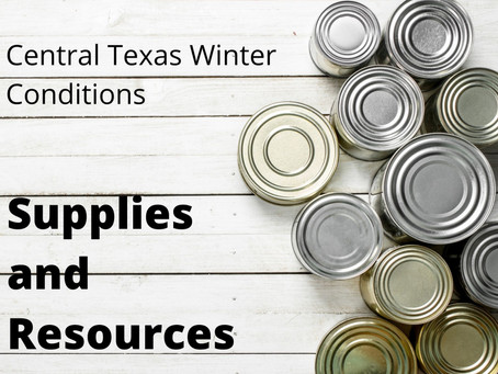 Central Texas Winter Conditions - Supplies and Resources