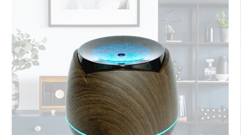 Dark Wood Drum Shaped Designed Diffuser