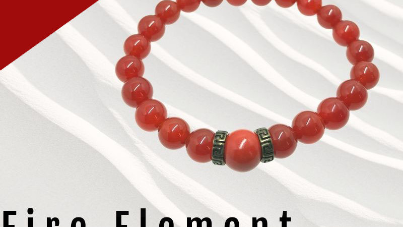 Fire Element Bracelet 8mm (Men/ Women)
