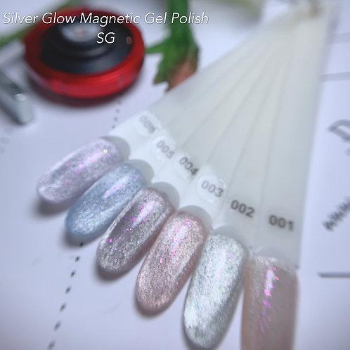 Silver Glow Magnetic Gel Polish: SG