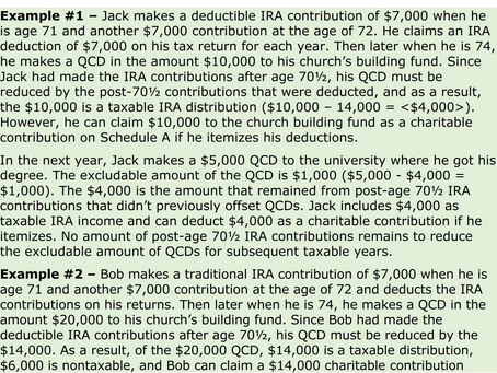 Complications to the IRA-to-Charity Distribution Provision