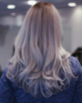 Gorgeous silver hair done by JK the othe