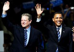 Al Gore and Barack Obama