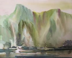 Watercolor Mountains