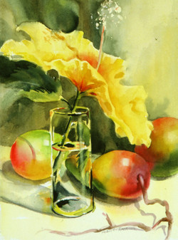 Hibiscus with Mangoes