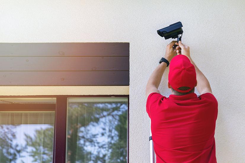 WiFi Überwachungskamera Montage + Befestigungsmaterial je Kamera