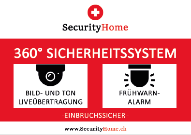 SecurityHome  Fensteraufkleber