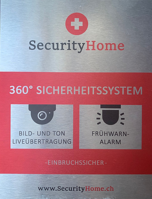 SecurityHome  Aluminiumschild
