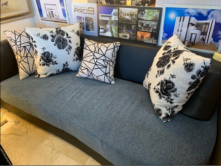Modern Sofa displayed in the store!