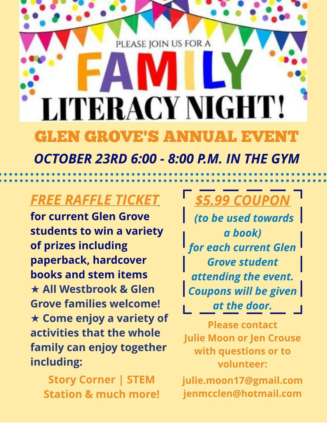 Literacy Nights