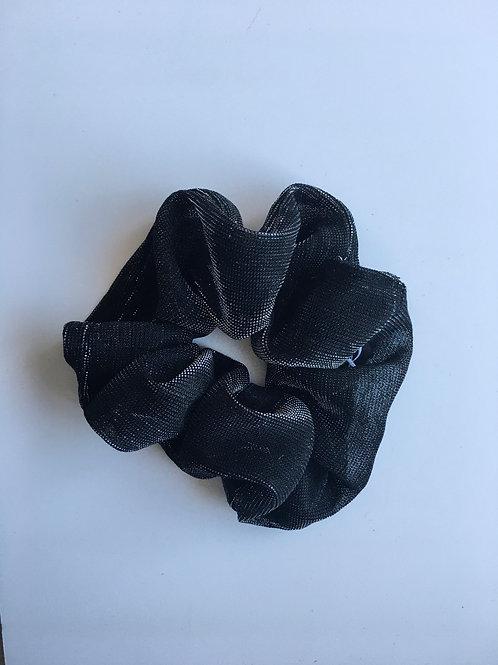 Chouchou Classique Noir Reflet Argenté