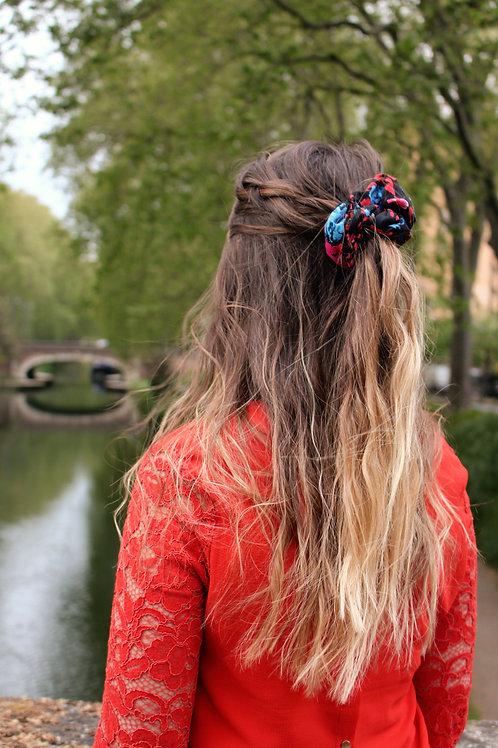 Chouchou Classique Fleurs Sombres