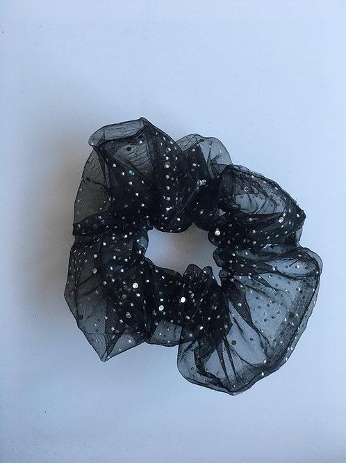 Chouchou Classique Transparent Noir Lacté