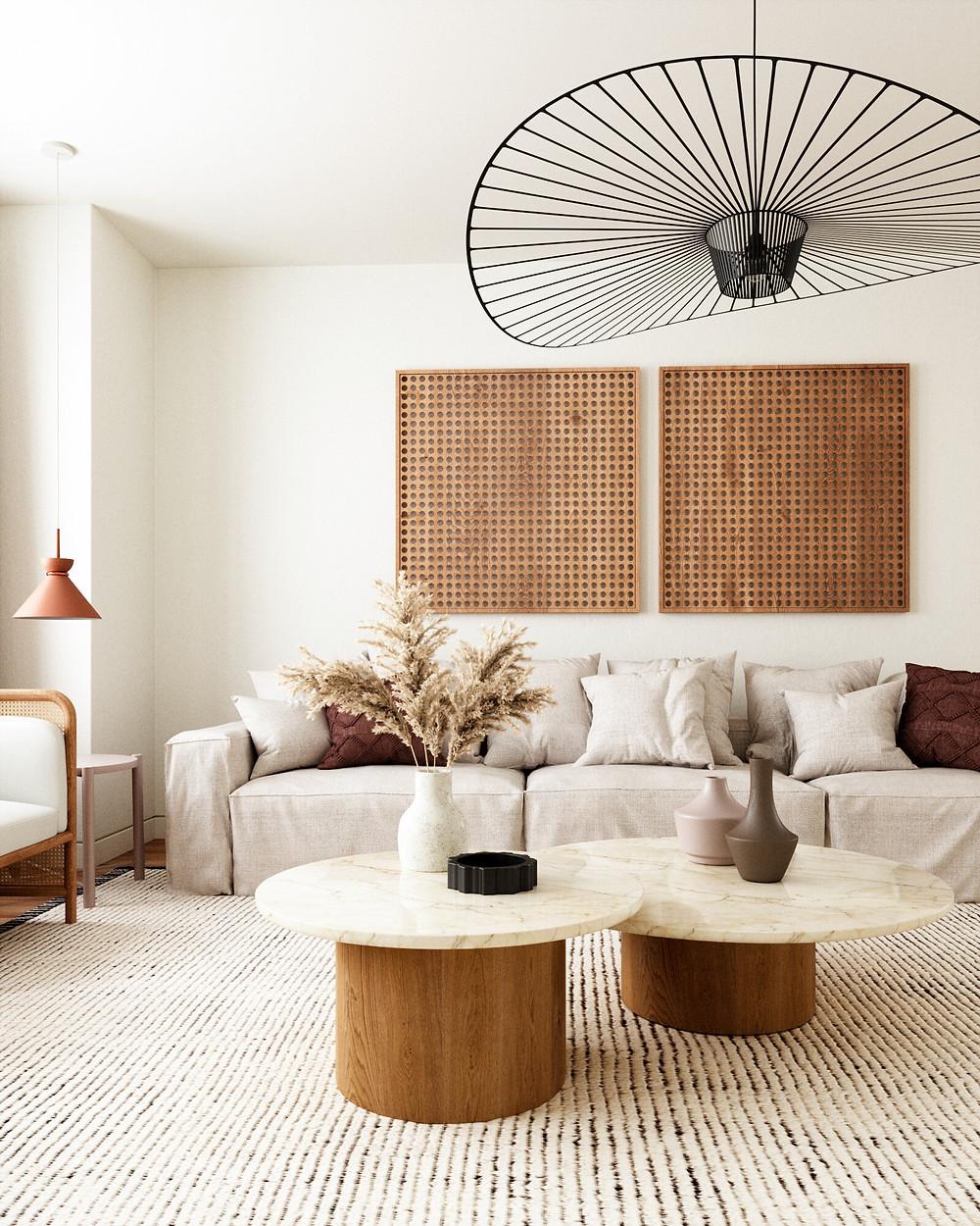 Wabi-sabi style interior design from Canadian Interior Design studio, Anthology Creative Studio Anthology Interiors