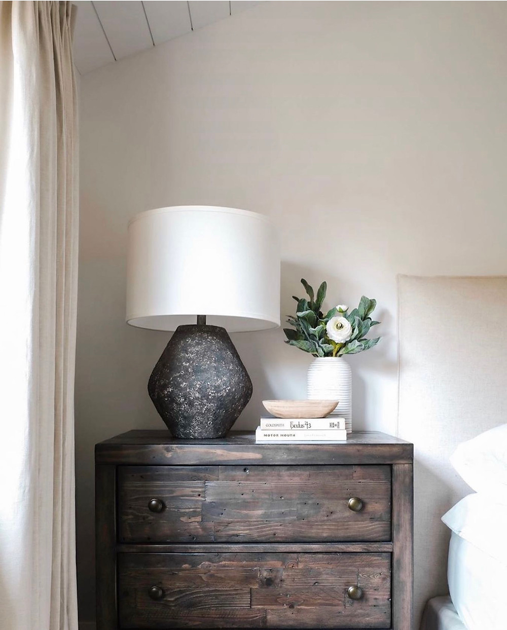 earthy textured table lamp
