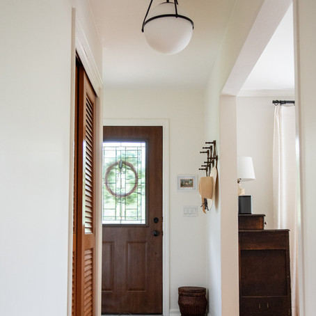 Project Reveal - A Small Modern Cottage Entryway