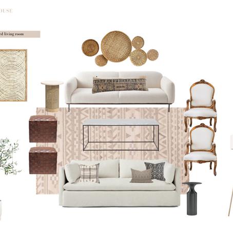 e{Design} Tuesday - A Neutral Refined Living Room