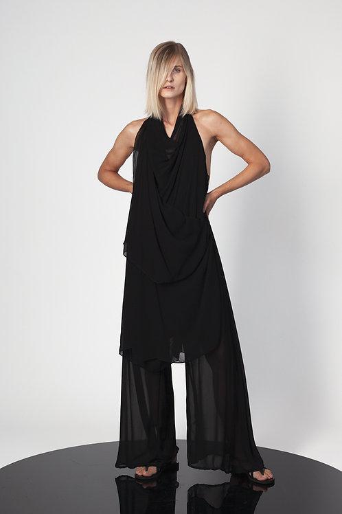 Open back paneled jumpsuit