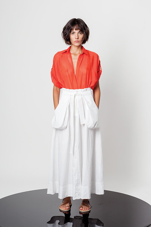 Voile cropped shirt