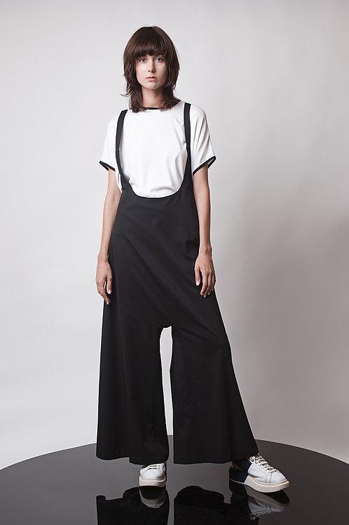 High waist suspender pants