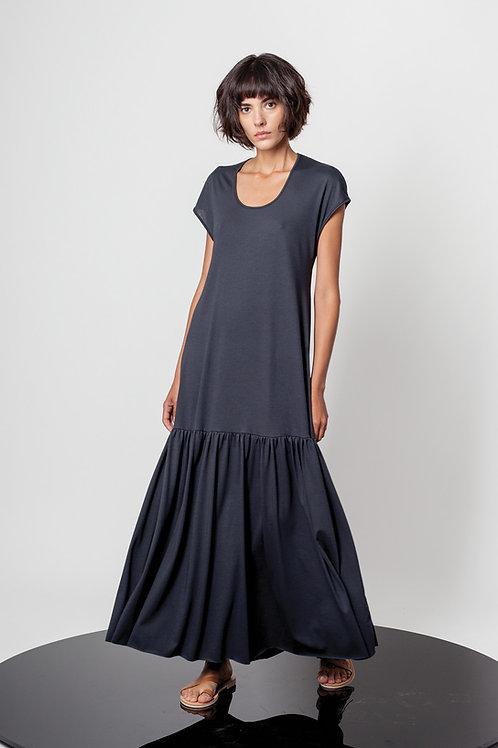 Long ruffled dress
