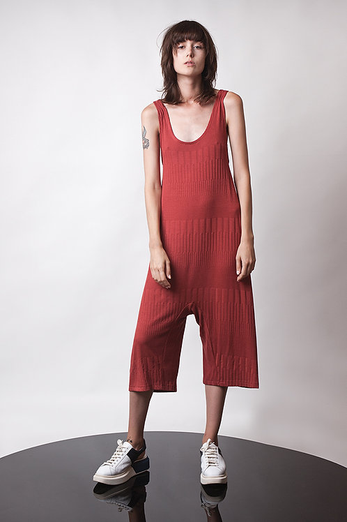 Mid calf knitted jumpsuit