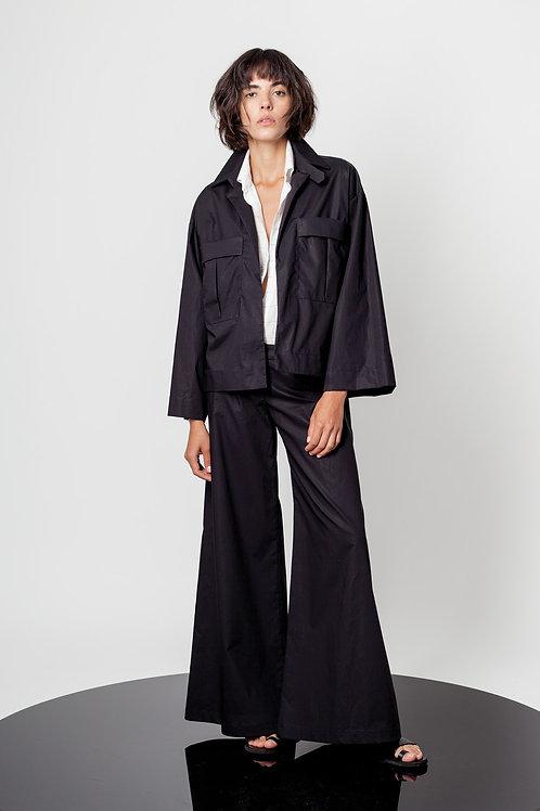 High waist paper trousers