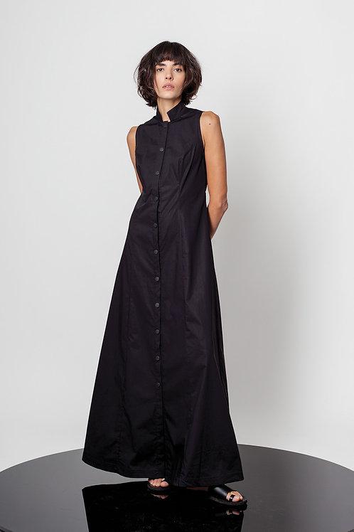 Long buttoned mandarin dress