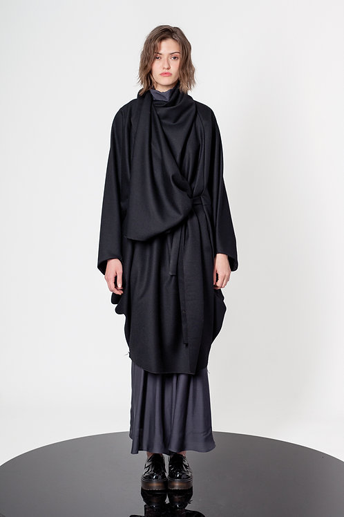 Batwing drapped cape