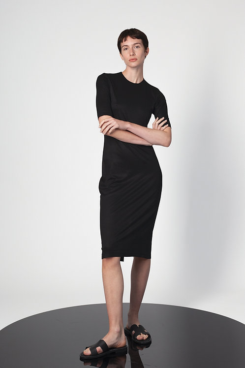 Fitted knee high dress