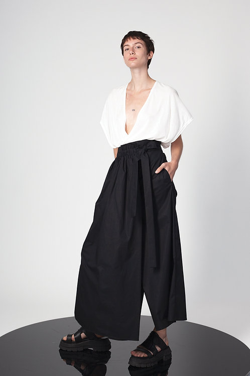 A-line culotte with paneled skirt
