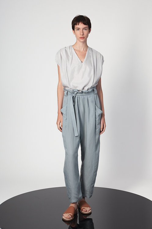 Pleated doubled top