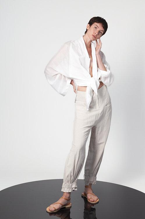 Low crotch slouchy pants