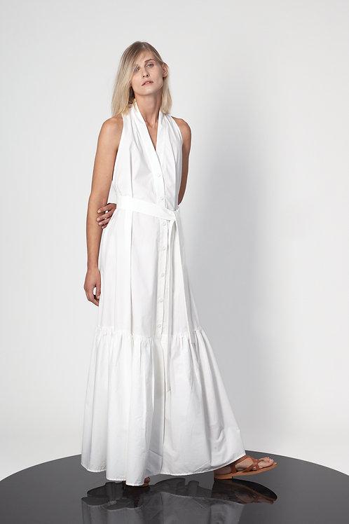 Open back chemisier dress