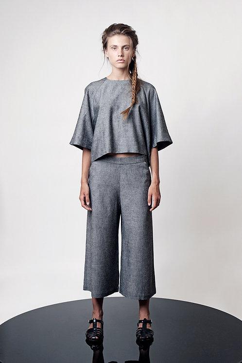 High waist capri pants