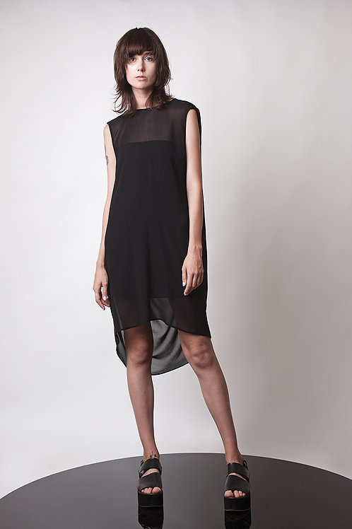 Mini draped back dress