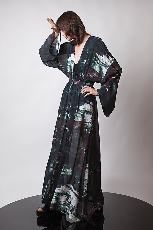 Maxi transparent dress