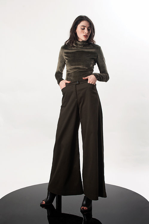 Mid waist bell pants