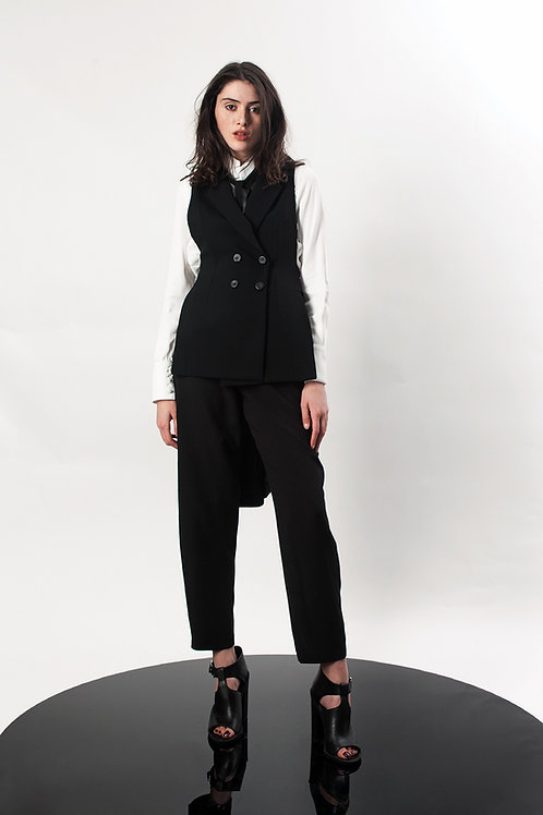 Double breasted tailcoat vest