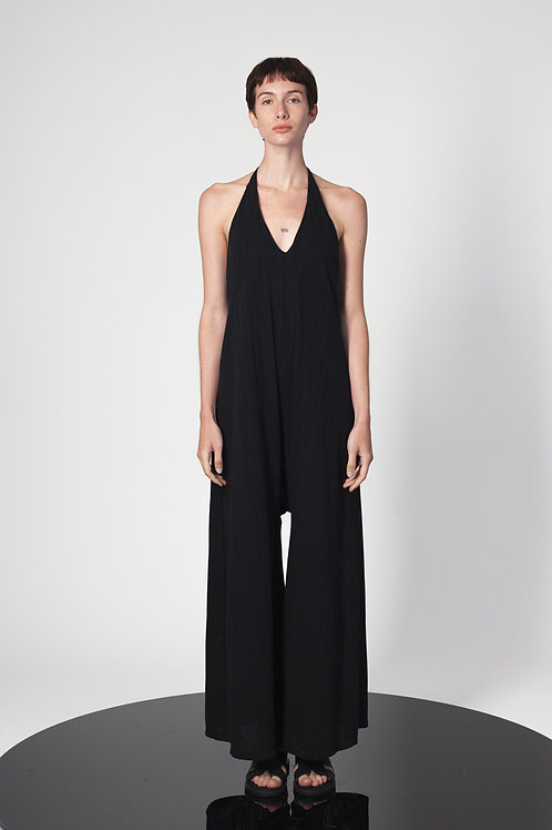 Halter open back jumpsuit